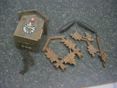 Vintage German-Made Regula 25 Black Forest Cuckoo Clock for Replacement  E752