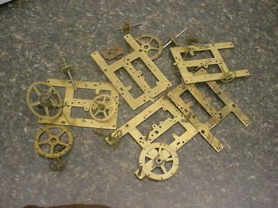 Vintage Clock Maker Sessions  Main Secondary Timing Gears Brass  Plates  D371
