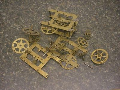 Vintage Session Watchmaker Main Hour Timing Gears Brass Plates Steam Punk  E364