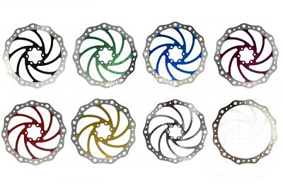 180mm 7in Vibe Disc Brake Rotor 6 Bolt IS Fixing Tough Stainless - 9 Colours