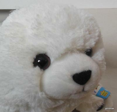 "Cuddlkins White Harp Seal Puppy 15"" New with Tags Wild Republic"
