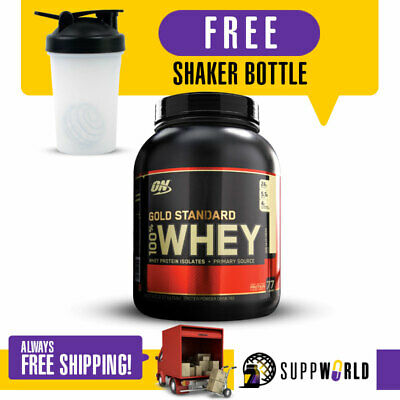 Optimum Nutrition Gold Standard 100% Whey 5Lbs Protein Isolate On Free Gift Pack
