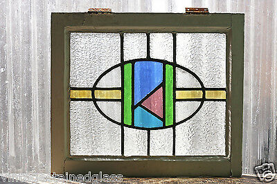 Antique Stained Glass Window Five Colors of glass Craftsman Style         (2951)