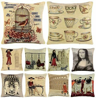 """LUXURY VINTAGE TAPESTRY CUSHION COVER 18"""" x 18"""" JACQUARD COVERS"""