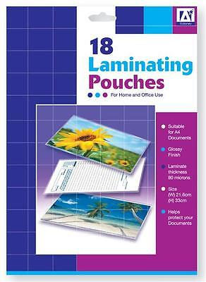 18 A4 Laminating Pouches Schools/Office Supplies