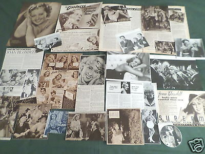 Joan Blondell - Film Star - Vintage Clippings /cuttings Pack