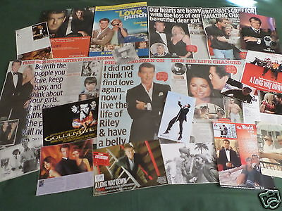 Pierce Brosnan - Film Star - Clippings /cuttings Pack