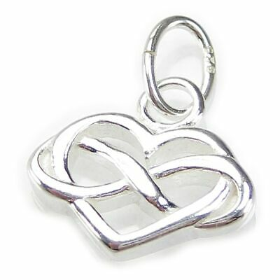 Infinity Heart small sterling silver charm .925 x 1 Forever Love charms CI300208