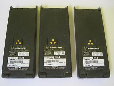 Lot Of 3 Motorola Ntn7341A 7.5 Nickel Cadmium Battery For 2 Way Radios Mt2000