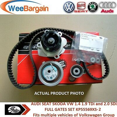 AUDI VW SEAT SKODA 1.4 1.9 TDI 2.0 SDI 8v KP55569XS-2 Timing Belt Kit Water Pump