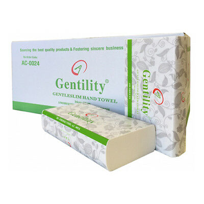 Gentility Ultraslim 2Ply Intreleave Paper Hand Towel TAD 150sheets 16Packs Box