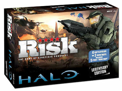 RISK Halo Legendary Edition Board Game Strategy Xmas Gift Best Seller