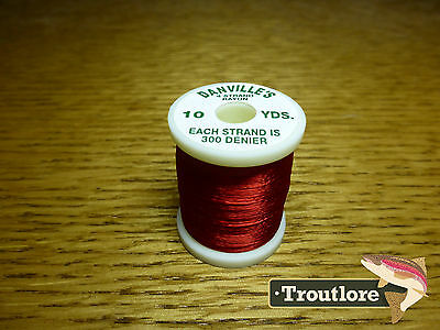 Red Danville 4 Strand Rayon 300 Denier 10 Yd Spool - New Fly Tying Threads