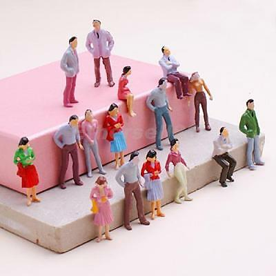 100pcs Painted Model Figures People Train Railway Layout 1:50 O Scale