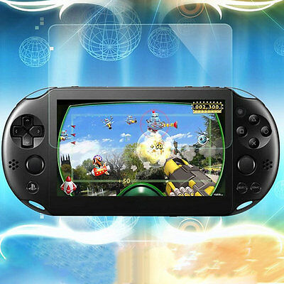 Hot Protect Front Screen Rear Plastic Guard Film Tempered Glass For PS Vita 2000