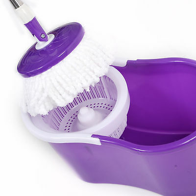 360° Magic Spin Mop Bucket Set Microfiber mop High-efficiency floor cleaning