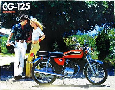 HONDA CG 125 - Motorcycle Sales Brochure - 1976-78 -#C 601