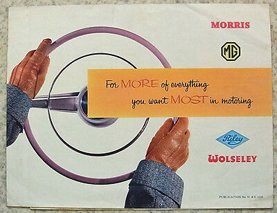 MORRIS Riley MG Wolseley BMC Car Range Sales Brochure 1955 #5558