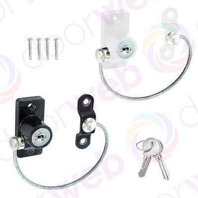 UPVC WINDOW DOOR Cable RESTRICTOR Limiter Lock Child Security Chain Wire Metal