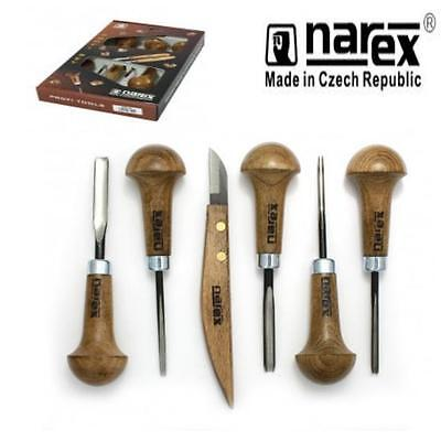 Narex 868500 Professional 6Pc Carving Set Wood Tool Whittling Chip Carvers