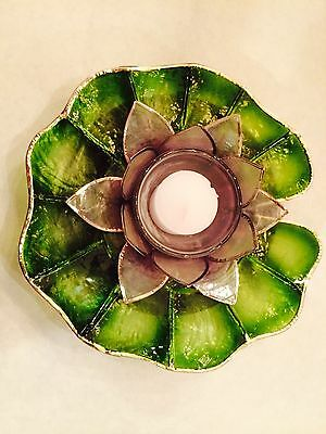 Capiz Floating Water Lily - Votive Candel - Philippine Westeria Voilet