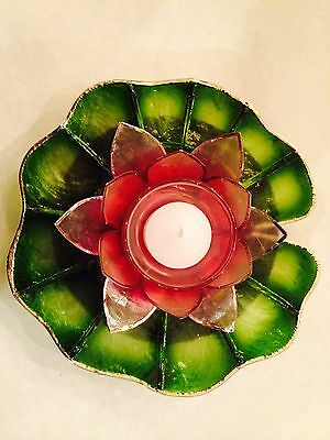 Capiz Floating Water Lily - Votive Candel - Boracay Rose Pink