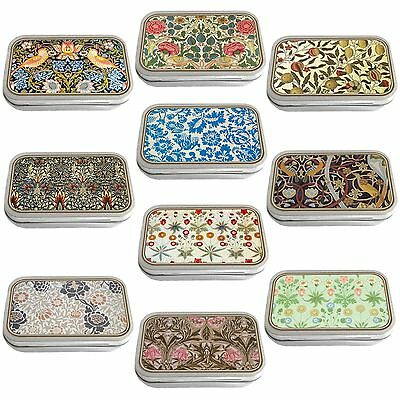 William Morris Design Slim Hinged 1oz Tin Tobacco Storage Choose Your Design