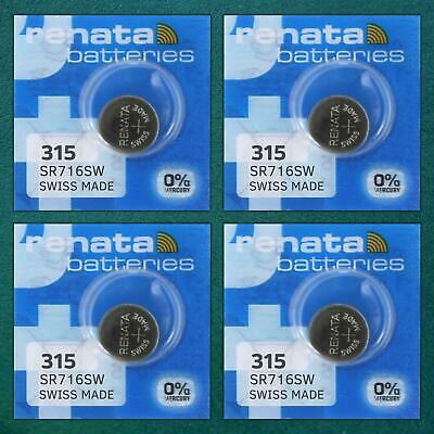 4x Renata Watch Battery Swiss Made [ All Sizes ] Silver Oxide Renata Batteries