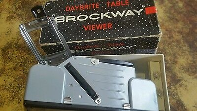 Vintage Brockway Daybrite Table Slide Viewer w/ Original Box