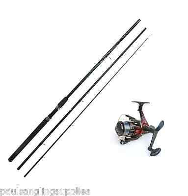 New 12ft Float Fishing Rod And Lineaeffe Red Sol  Reel With Line