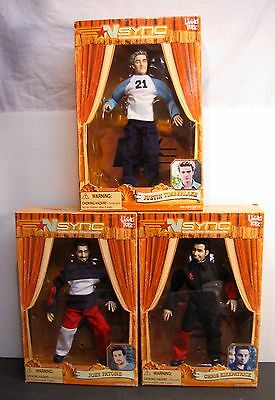 Lot of 3 Nsync Marionette Figures NIB by Living Toyz Justin Timberlake