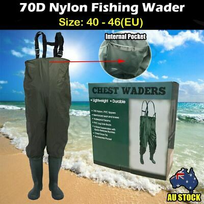 Waterproof Chest Fishing Waders With Boots All Sizes Available With Spare Patch