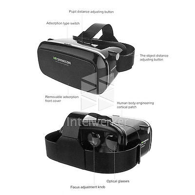 Google Virtuelle Realität VR 3D Brille →Android Samsung Galaxy Note 3/4 S3/S5/S6