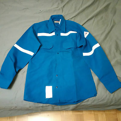 Bulwark Protective Apparel Flame Resistant Long Sleeved Shirt - Blue Size:s-Rg