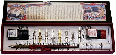 Wood Pen, 8 Nibs, 2 Ink Bottles  by Coles Calligraphy
