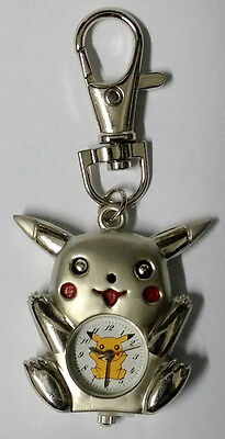 Nintendo Pikachu Pokemon Silver Figure Children Kids Boys Keychain Keyring Watch