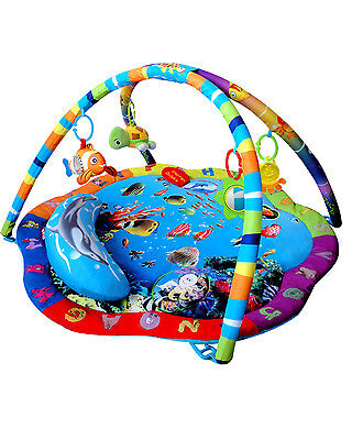 Baby Musical Ocean Adventure Gym Sealife Activity Playmat Play Mat