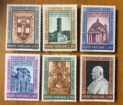 EBS Vatican City Città del Vaticano 1961 Pope John XXIII 80th birthday 317-322**