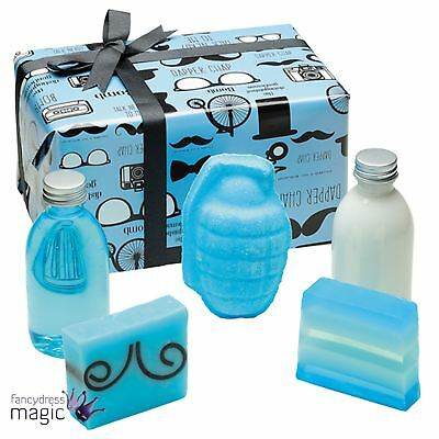 Bomb Cosmetics Distinguished Gentleman Gift Wrapped Mens Fathers Day Bath Set
