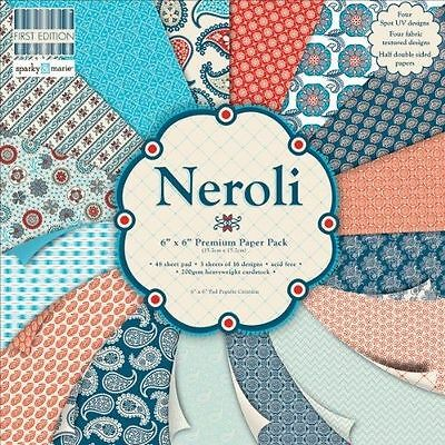 64 SHEET FULL PACK 6 x 6 FIRST EDITION NEROLI CARD MAKING BACKING CRAFT PAPER