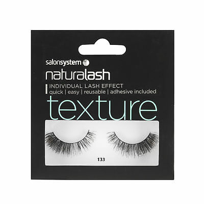 Salon System Naturalash 133 Black 3D Corner Boost + Adhesive False Strip Lashes
