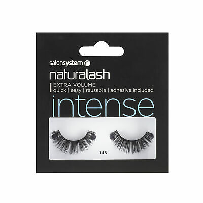 Salon System Naturalash 146 Black (intense) Adhesive Included False Strip Lashes