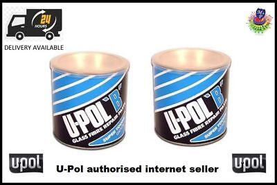 2no U-POL B Glass Fibre Bridging Compound No.4 1.85L Body Filler UPOL
