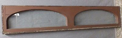 Antique Double Arched Transom Window Sash Old Vintage Shabby Cottage Chic 212-16