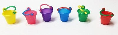 Seaside Buckets, Choice Of Colour 1.12th Scale, Dolls House Miniatures, Mini