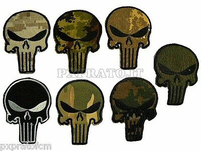 Patch SoftAir Punisher Navy Seals USA Toppa Militare Soft Air Ricamata Velcro