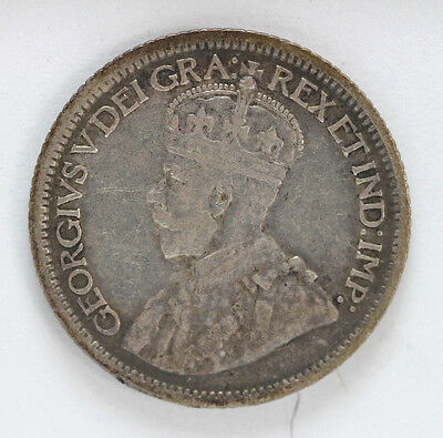 1914 Canada Silver 10 Cent George V Km23 - 91900h