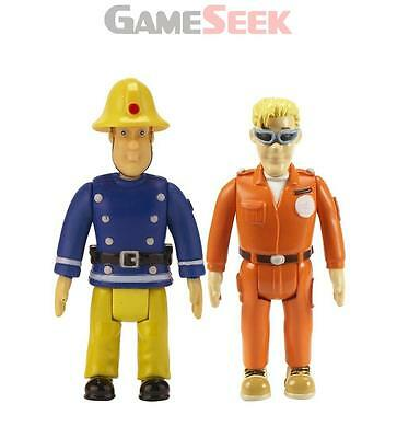 Fireman Sam Action Figures 2 Pack - Sam And Tom With Glasses - Toys Brand New