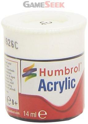 Humbrol 12Ml Acrylic Paint No. 34 Matt (White)