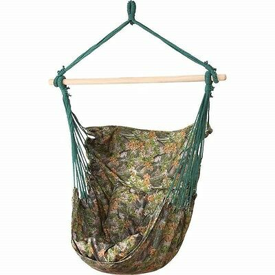 Camo Hanging Rope Chair Porch Swing Garden Tree Hammock Outdoor Patio Yard 265lb